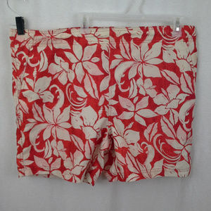 Op mens swim trunks Size M 32 34 Red white Floral